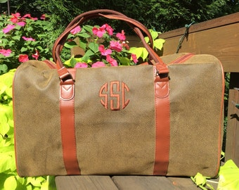 Stylish Monogrammed Men's Duffel Bag -- Perfect Combination of Form and Function!