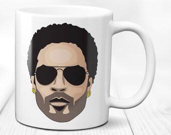 Lenny Kravitz- Rock music Singer,Songwriter, Actor & Composer  gift mug,coffee cup,birthday present tea mug,11,  oz ceramic tea cup