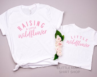 Mommy and Me Shirts | Matching Mother Daughter Outfit | Little Wildflower | Set of 2 | Mom and Baby Shirts | Mommy and Me Shirts