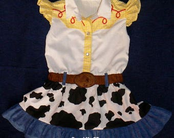 RESERVED for Joy  Jessie inspired dress. Toy Story. Cowgirl  Birthday Party  Halloween costume