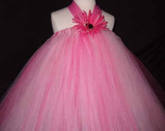 Pink Princess Tutu Dress..sizes 6-7 yrs old..plus a FREE Flower clip