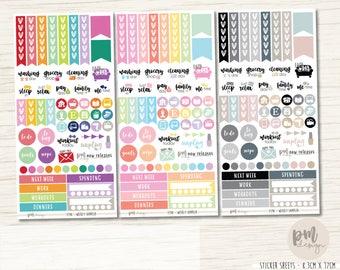 Weekly Sampler Sticker Sheet - Planner Stickers - FS98