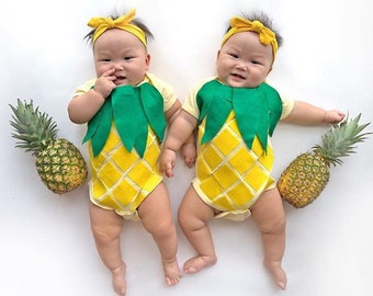 Pineapple Kids Costume, Baby Bodysuit, Summer Baby Clothes, Tropical Theme, Fruit Costume, Funny Present, New Baby, Baby Shower Theme
