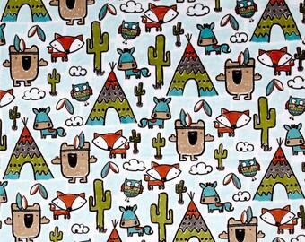 MINKY - Pow Wow Cuddle Teal Minky from Shannon Fabrics