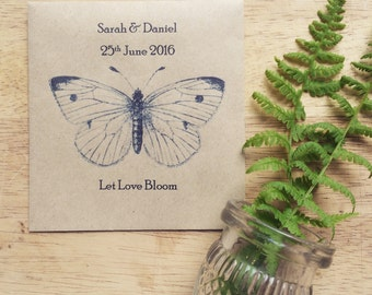 Wildflower Seed Favour Butterfly
