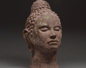 On SALE Ceramic Sculpture Buddha Bliss Bust Sculpture Meditate Yoga