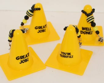 Caution Cones Table Cloth Weights Set of 4