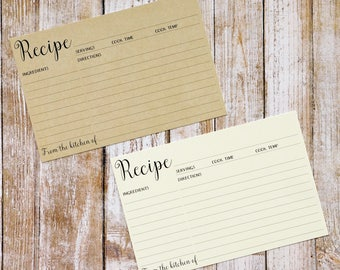 Recipe Cards | Size 4x6 | Pack of 30 | Foodie Gift