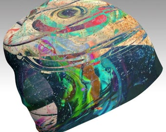 "Limited Edition ""Beaches Of Infinity"" Abstract Beanie"