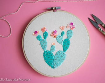Sweet Hand Stitched Cactus