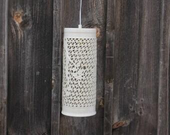 Percée en porcelaine Blanc Blanc de Chine pendaison lanterne