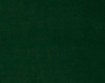 Dark Forest Green Velveteen by Robt Kaufmann Light Weight for Garments, Crafting or Trims 100% Cotton - Half Yard