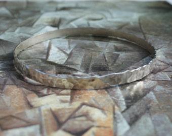Hammered Sterling Silver Bangle, Narrow Bangle, Hammered Bangle,Textured Bangle