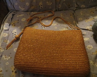 Vintage boho   woven   Straw Shoulder handbag