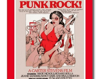 Punk Rock Adult Film Rated X Poster Movie REPRO Vintage Postcard R879694