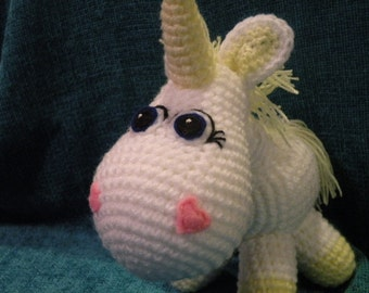 INSTANT DOWNLOAD PDF - Unicorn 8,8 inches / 22 cm amigurumi doll crohet pattern