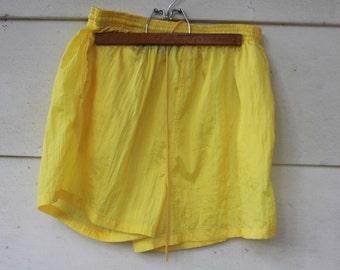 yellow neon sporty shorts
