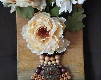 Beaded Flower Art, Flower Art, Flower painting