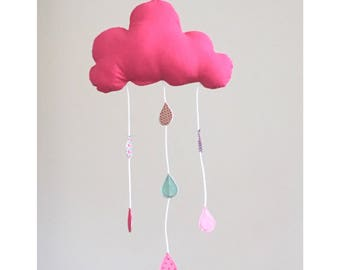 Fuchsia baby cloud mobile