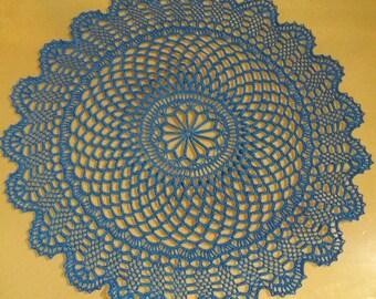 Filigree blue cloth, approx. 48 cm Ø