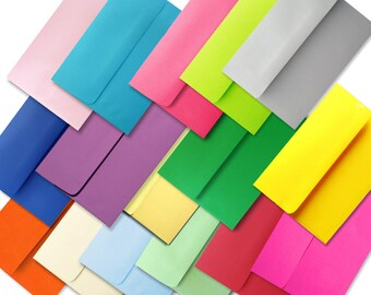 Colored Envelope Assortment A7 Envelopes for 5 x 7 Invitations Cards Announcements Weddings Photo Gift Shower Astrobrights & More