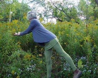 Organic Clothing Skirted Wool Leggings Organic Merino Wool Yoga Runner Ski Pants Winter Hiking Mountains Dance Ballet Outdoor Gear