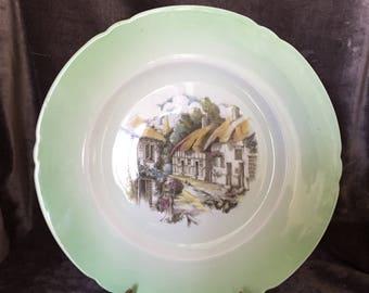 Vintage mint green Shelley England dinner plate