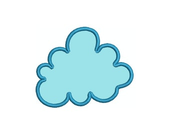 Cloud applique machine embroidery design comes in multiple sizes.  INSTANT DOWNLOAD