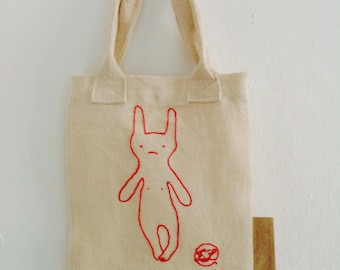 The child tote bag personalized, embroidered