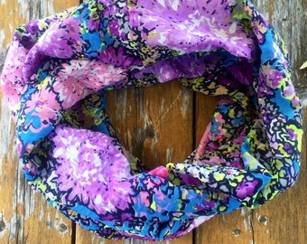 Violet Bouquet Infinity Scarf