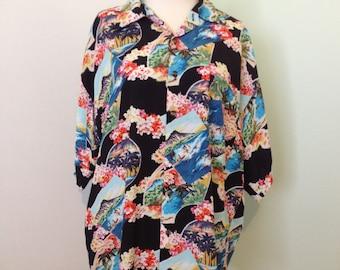 Black Hawaiian Shirt