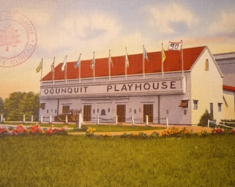 Ogunquit Play House - framable print -  for Summer stock Theatre Lovers, Maine destination postcard reproduction