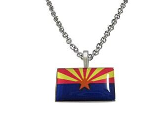 Arizona State Flag Pendant Necklace