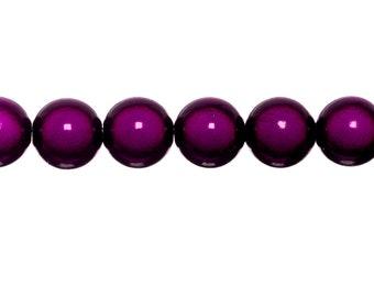 10 x magic round beads 10mm - plum
