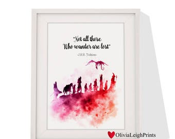 Lord of the rings art print Instant Download