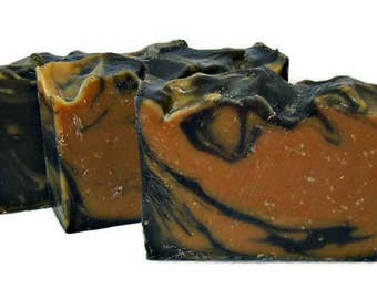 Tobacco Caramel Soap, Mens Soap Bar, Vegan, Phthalate Free, Activated Charcoal Soap
