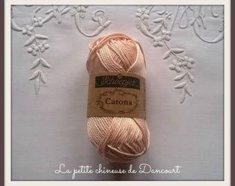 Powdered apricot Catona Mercerized cotton