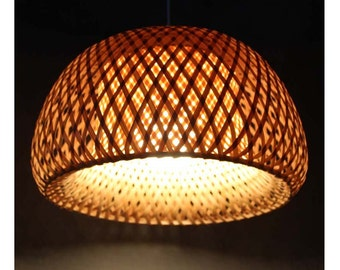 Hat Shape Bamboo Pendant Lighting-Bamboo Pendant Lights-Hanging Lamp-Chandelier-Home&Bar Lighting-Bamboo crafts-Lighting Fixtures 110V-240V