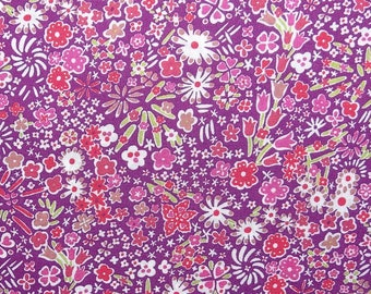 Liberty of London COUPON - 50 x 67 cm - fabric Liberty fabric Kayoko purple