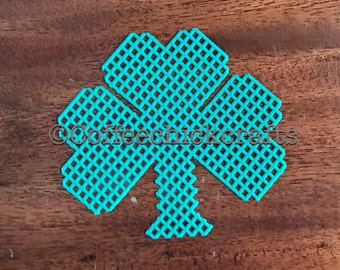Clover Shamrock Plastic Canvas Cut Out Plastic Canvas Shamrock Clover for Needlepoint St Patrick's Day