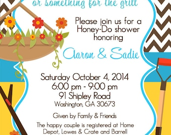 Honey-Do / Honey Do / Couples Shower / Tool Shower / Giftcard Shower / Fall Wedding / Wedding Shower / Engagement Party / Digital Invitation