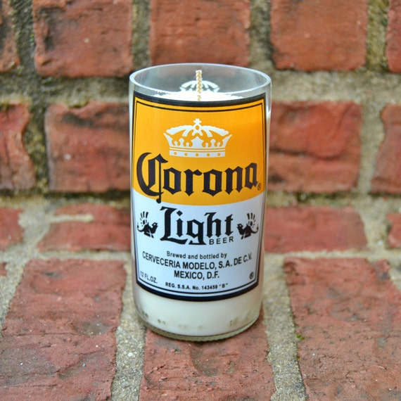 Corona Light Beer Bottle Candle made with soy wax