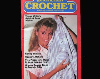Crochet, Crochet Patterns, How to crochet, Vintage Quick & Easy Crochet Magazine  Spring 1986