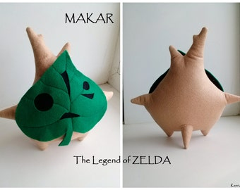 Makar plush~ The Legend of Zelda, Stuffed felt toy, ~ 21cm length
