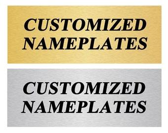 Custom Name Plates | Trophy Plates