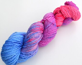 Hand dyed yarn - 100% merino wool - aran / worsted weight, Merino Singles Reggae #2