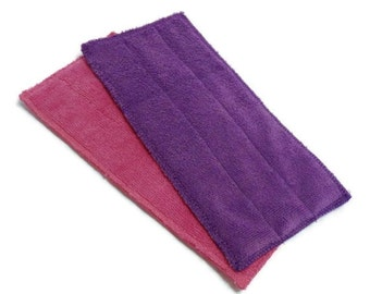 Swiffer Wet Jet Pads- Set of 2- PINK and PURPLE Color Combo- Microfiber- Refill- Reusable- Ecofriendly