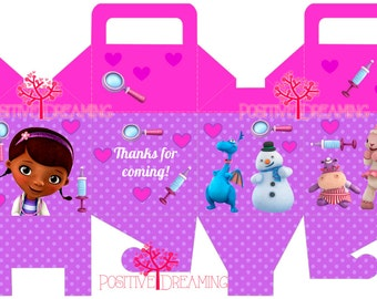 Doc McStuffins Printable Box Template - High Quality Printable INSTANT DOWNLOAD