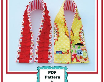 Camera Strap Cover Pattern/Tutorial Padded with Ruffled and Pockets Options - PDF pattern, instant download pdf, camera strap sewing pattern