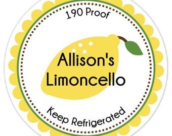 Étiquettes de Limoncello, de la cuisine ou le fait pour vous, étiquettes, autocollants - personnalisés pour vous